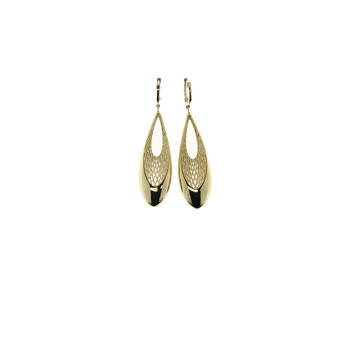 18Kt Teardrop Shape Dangling Earring