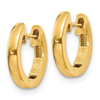 14k Polished 2MM Hinged Hoop Earrings