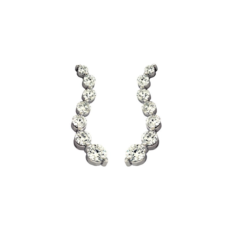Briana White Gold Journey Earring