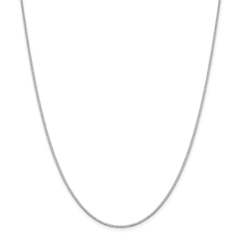 Quality Gold Sterling Silver 1.1mm Box Chain Anklet