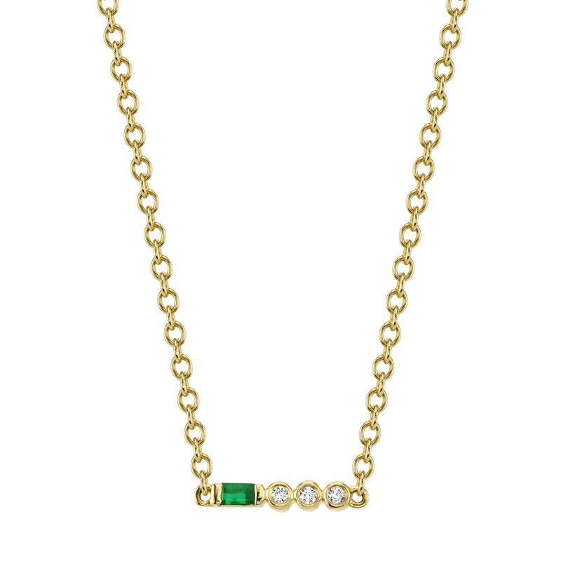 MARS Jewelry MARS 27318 Pendant Necklace, 0.02 Dia, 0.05 Emerald