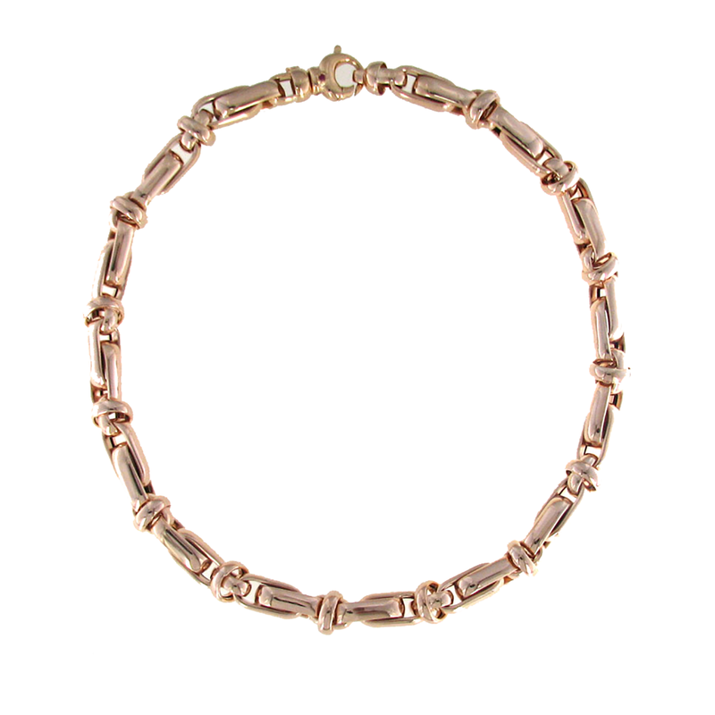 Roberto Coin 18Kt Rose Gold Link Necklace