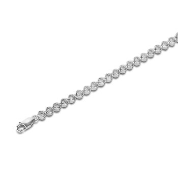 925 SS Diamond Tennis Bracelet in Miracle Setting