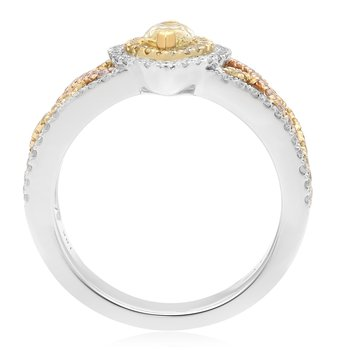 Tri-Colored Diamond Band