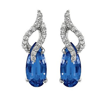 Blue Sapphire Earrings-CE2285WBS