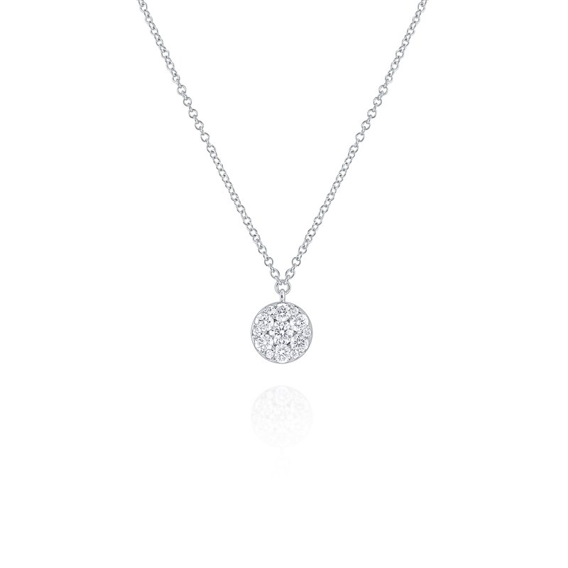 KC Designs Diamond Round Disc Pendant Necklace Set in 14 Kt. Gold