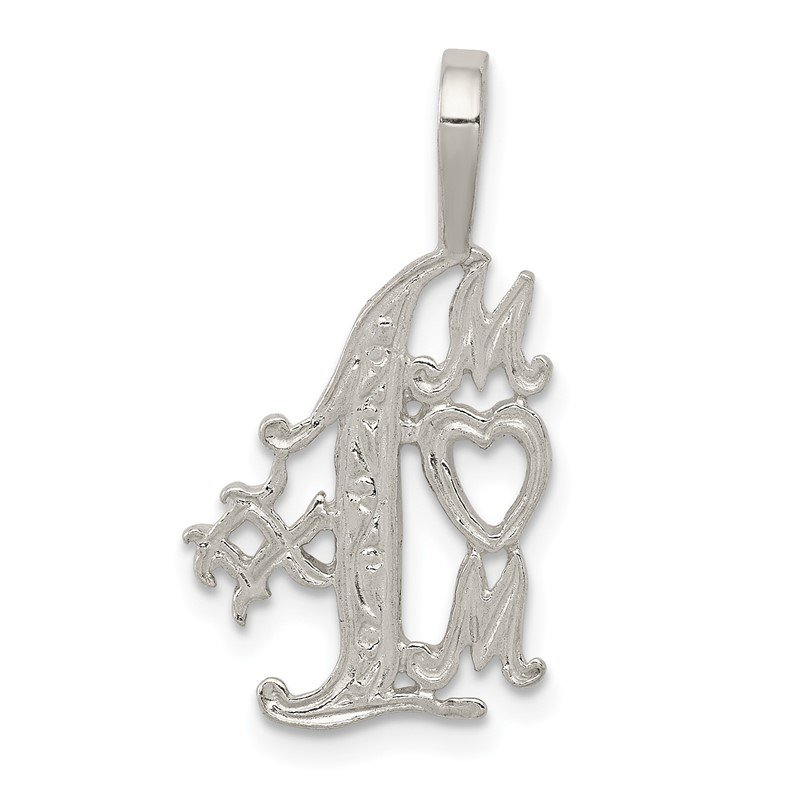 Quality Gold Sterling Silver #1 Mom Charm