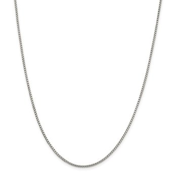 Sterling Silver 1.75mm Round Box Chain