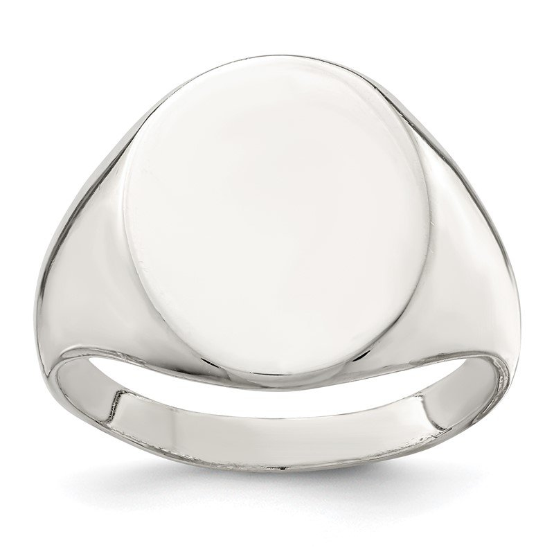 Quality Gold Sterling Silver 17x13mm Closed Back Signet Ring
