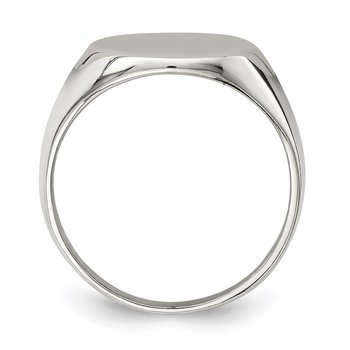 Sterling Silver 17x13mm Closed Back Signet Ring