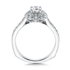 Valina Floral shape halo .35 ct. tw., 1/2 ct. round center
