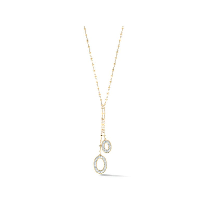 ALOR Yellow Gold Chain & Diamond Solar Necklace