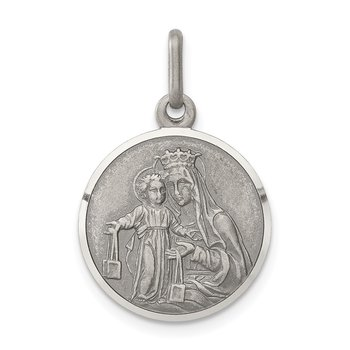 Sterling Silver Our Lady of Mount Carmel Medal