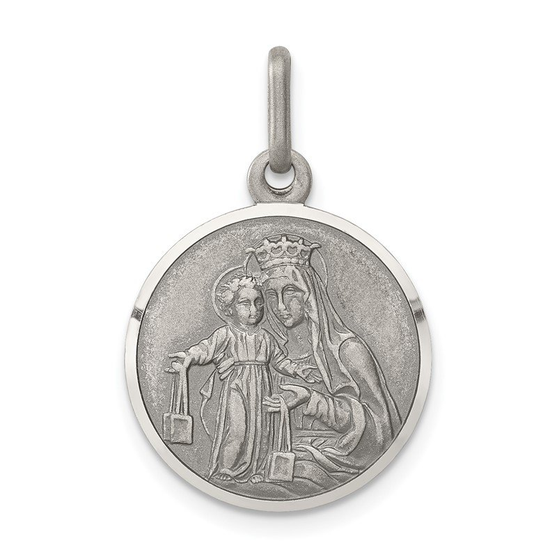 Quality Gold Sterling Silver Our Lady of Mount Carmel Medal
