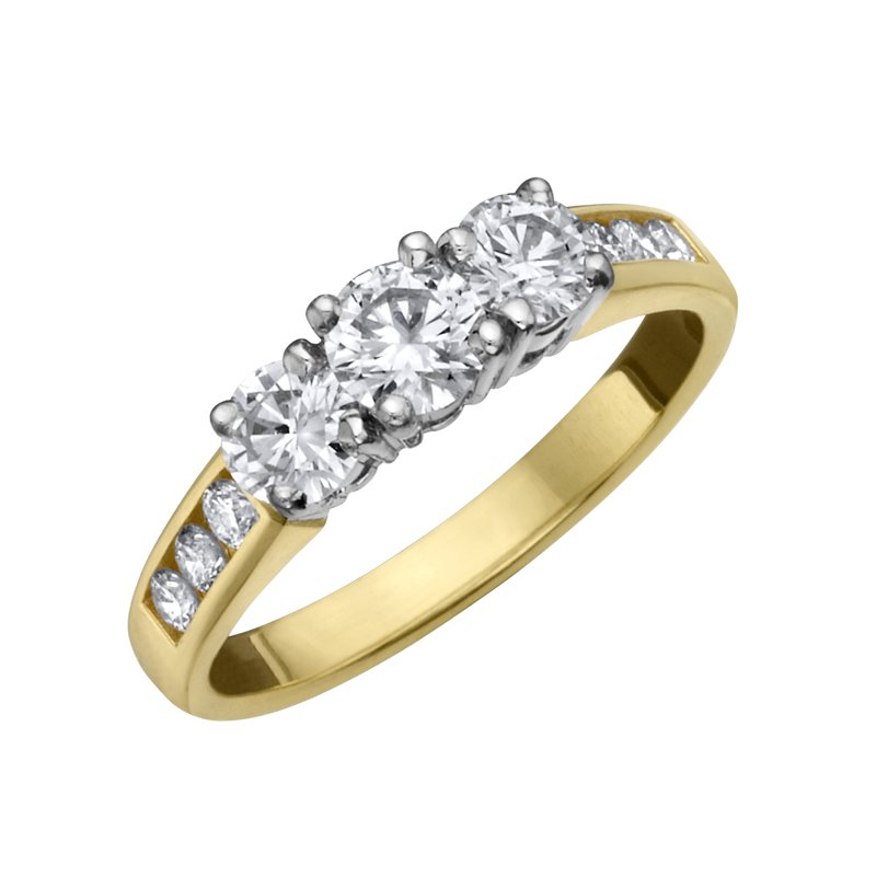 Timeless Beauty Diamond Ladies Three Stone Ring