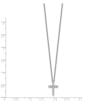 14kw True Origin Lab Grown Dia VS/SI D,E,F Cross Pendant with Chain