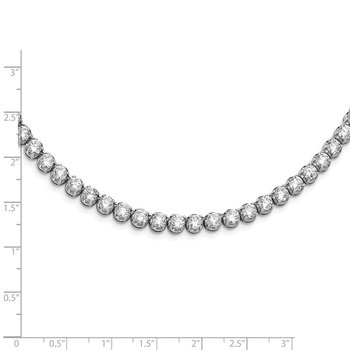 Cheryl M Sterling Silver CZ Necklace