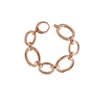 18Kt Rose Gold Oval Link Bracelet