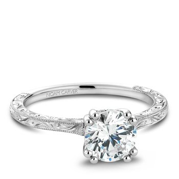 Noam Carver Vintage Engagement Ring B004-02EA