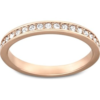 Rare Ring, White, Rose-gold tone plated