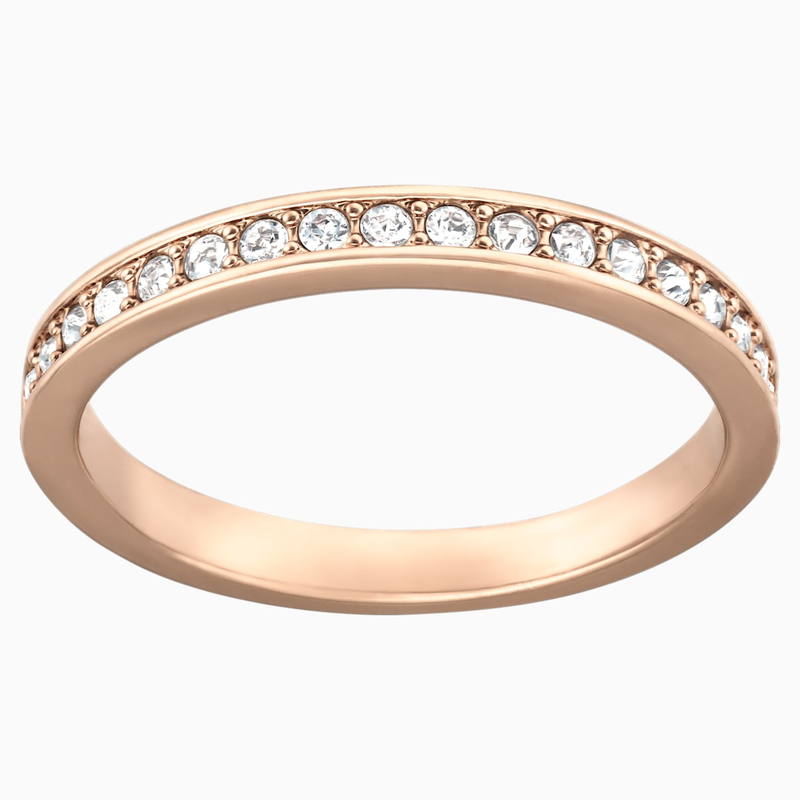 Swarovski Rare Ring, White, Rose-gold tone plated