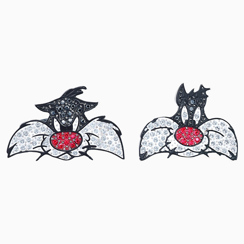 Swarovski Looney Tunes Sylvester Cufflinks, Multi-colored, Rhodium plated