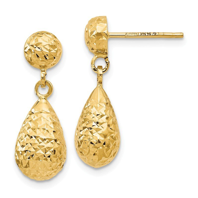 Leslie's Leslie's 14K D/C Post Dangle Earrings