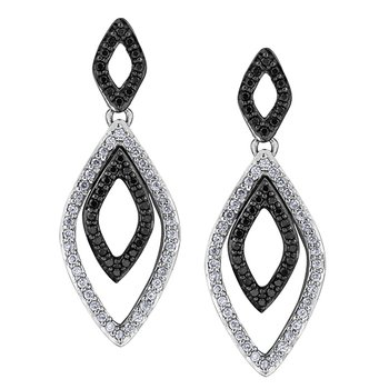 Enhanced Black Diamond Earrings