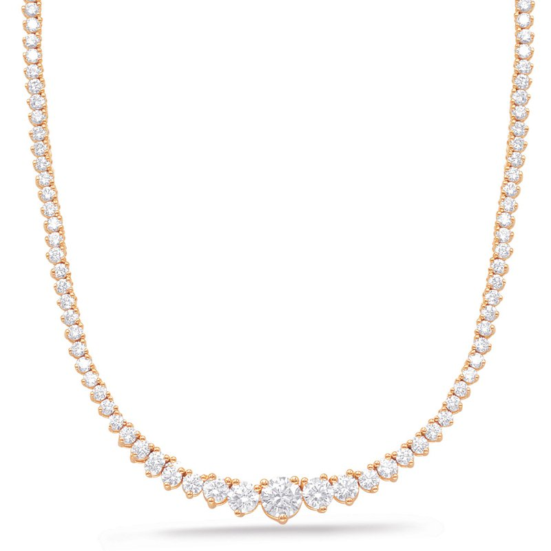 S. Kashi  & Sons Rose Gold DIamond Necklance