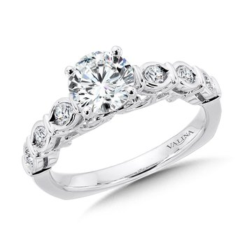 Straight Diamond Engagement Ring