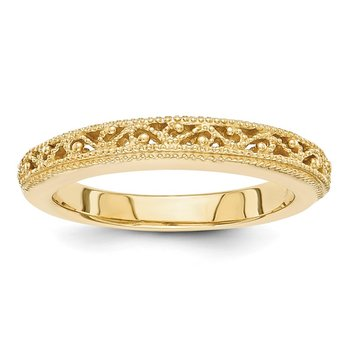 14k Filigree Band