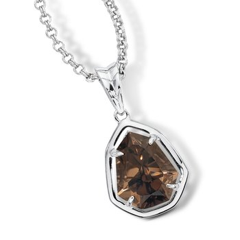 Sterling silver and smoky quartz pendant