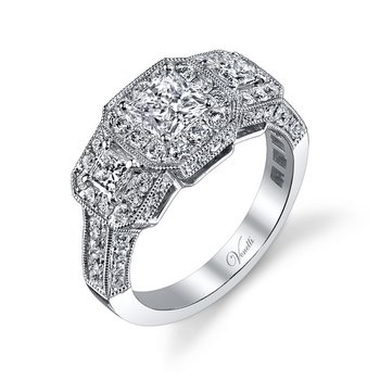 14K W RING 76RD 0.93CT 2PC 0.30CT