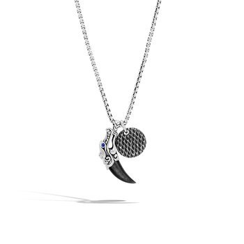 Legends Naga Charm Necklace in Silver