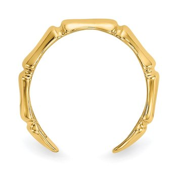 14k Bamboo Toe Ring