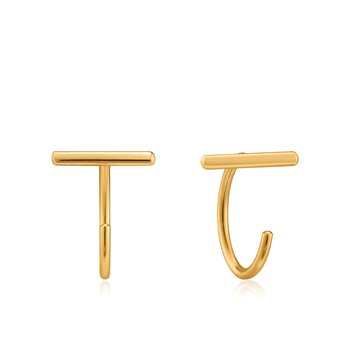 T-BAR TWIST EARRINGS