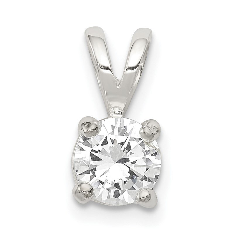 Quality Gold Sterling Silver CZ Pendant