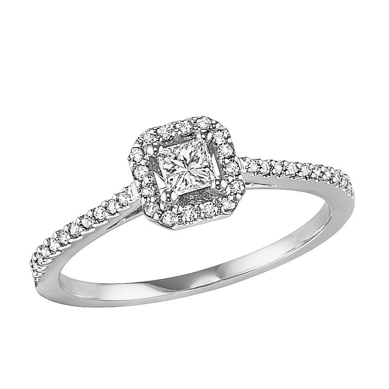 Bridal Bells 14K Diamond Engagement Ring 1/3 ctw Complete