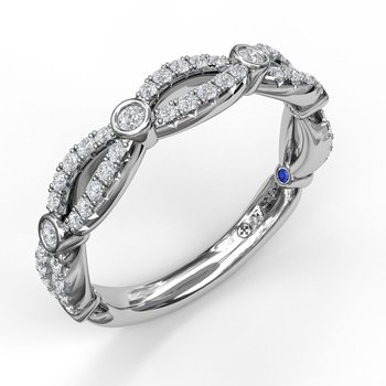 Narrow Infinity Diamond Band