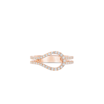 Art Deco Ring With Diamonds &Ndash; 18K Rose Gold, 6.5