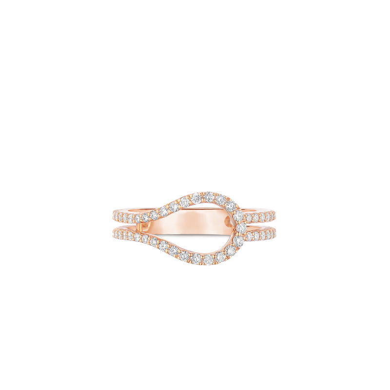Roberto Coin Art Deco Ring With Diamonds &Ndash; 18K Rose Gold, 6.5