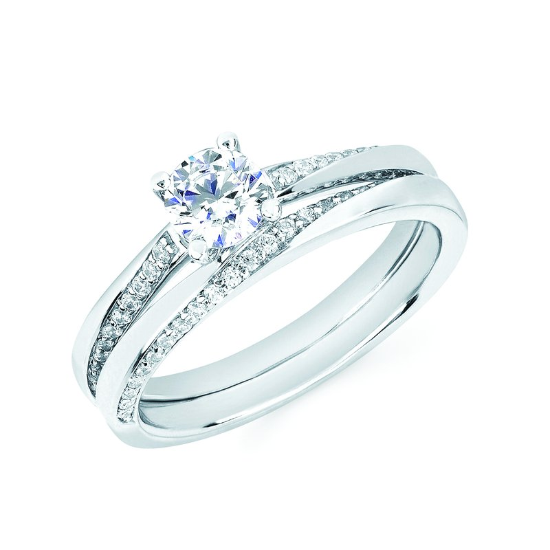 J.F. Kruse Signature Collection Ring RD CZ 0.14 RD CZ 0.50 STD
