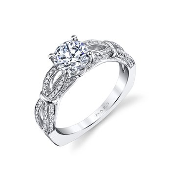 MARS 26244 Diamond Engagement Ring 0.27 Ctw.