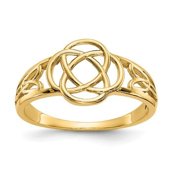 14k Polished Ladies Celtic Knot Ring