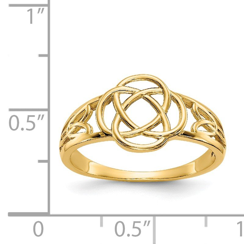 Quality Gold 14k Polished Ladies Celtic Knot Ring