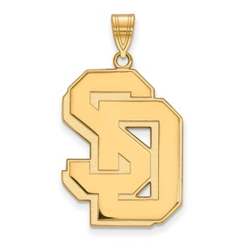 Gold University of South Dakota NCAA Pendant