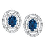 Diamond Wishes Sapphire Earrings