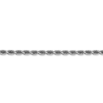 14k White Gold 3.35mm D/C Quadruple Rope Chain