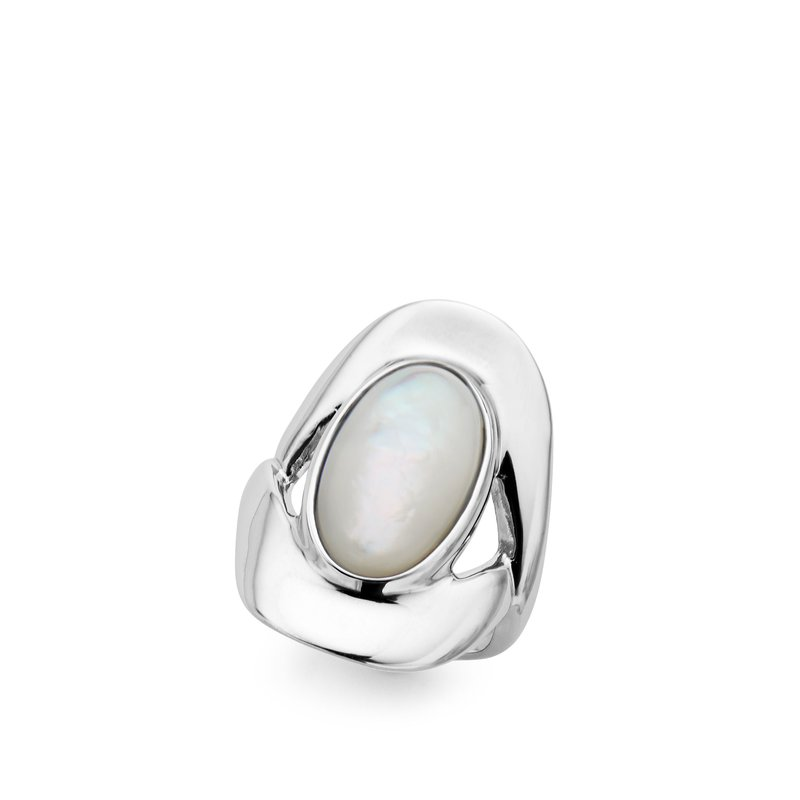 Nambé Jewelry Oval Ring/Mother of Pearl - S6