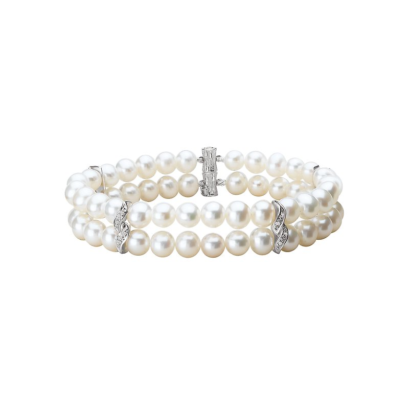 Tesoro Freshwater Pearl and Diamond Bracelet